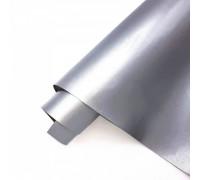 Переплётный кожзам,  глянцевый серебро