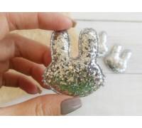 Заяц, цвет серебро, 1шт