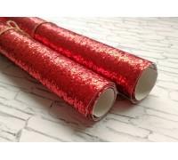 Ткань с крупным глиттером, цвет красный, 25х35 см