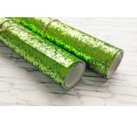 Ткань с крупным глиттером, цвет зелёный, 25х35 см