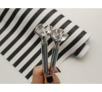Ручка с бриллиантом, серебро, 1шт