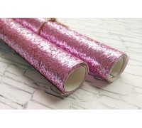 Ткань с крупным глиттером, цвет розовый, 25х35 см