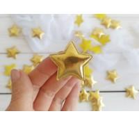 Звезда из кожзама, цвет золото, 1шт