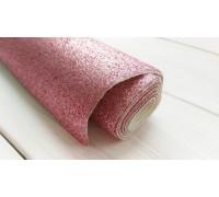 Ткань с глиттером, цвет розовый, 30х35 см