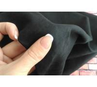 Ткань под замшу, цвет чёрный, 50х35 см