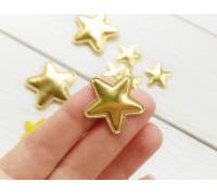 Звезда из кожзама маленькая, цвет золото, 1 шт