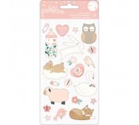 Объёмные стикеры Night Night Baby Girl Puffy Stickers
