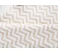 Ткань хлопок «Шеврон зигзаг бежевый», 33х80 см