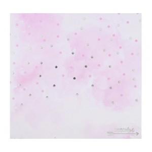 Бумага для скрапбукинга с фольгированием «Счастье», 20 × 20 см