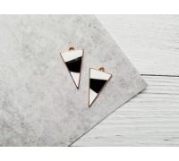Подвеска «Треугольник», цвет чёрный с белым, 1шт