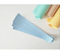 Отрез кожзама для хлястика, цвет голубой, 1 шт