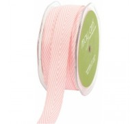 Твиловая лента, шеврон, цвет розовый, 1 метр PINK -MAYARTS TWILL STRIPE