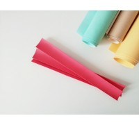 Отрез кожзама для хлястика, цвет светло-красный, 1 шт