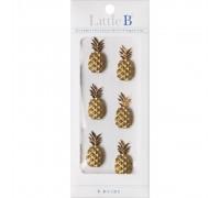 "Пластиковый объемный стикер ананас ""Mini Stickers-Pineapple"" от Little B, 1 штука"