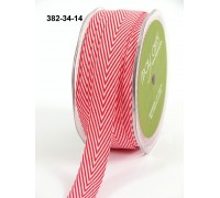 Твиловая лента, шеврон, цвет красный, 1 ярд