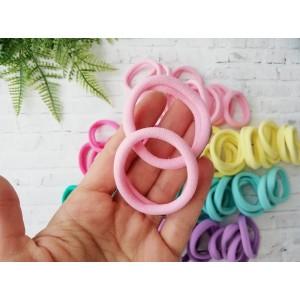 Основа резинка для волос , нежно-розовый , 1шт
