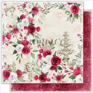 """Лист двусторонней бумаги """"Antique garden"""" 190гр,30,5*30,5см"""