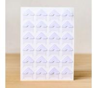 Уголки для фото бумажные, белые