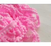 Помпошки мелкие, цвет ярко-розовый, 1м