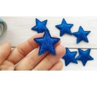 Звезда с глиттером, цвет синий, 1 шт