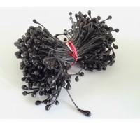 Тычинки двусторонние, цвет чёрный, 3 мм, 20 ниточек