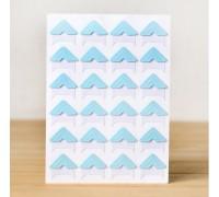 Уголки для фото бумажные, голубые