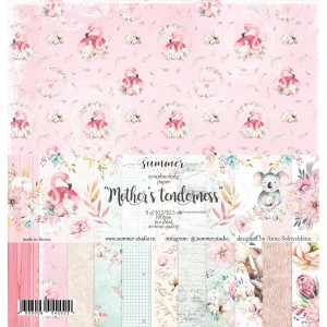 "Набор двусторонней бумаги ""Mother's tenderness"" 11л, 190гр, 30,5*30,5см,"