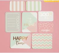 Набор карточек для творчества с фольгированием Good day, 10 х 10.5 см