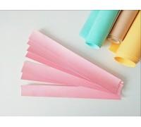 Отрез кожзама для хлястика, цвет розовый, 1 шт