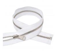 Молния металлическая серебро №5 , 18 см, цвет белый