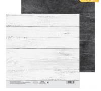Бумага для скрапбукинга «Беленые доски», 20 х 20 см