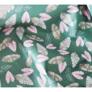 Ткань хлопок «Листья на темно-зеленом», 33х80 см