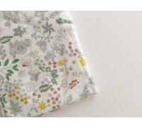 Отрез ткани с растительными элементами, размер 50х50 см