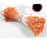Тычинки двусторонние, цвет матовые (оранжевые), 1 мм, 20 ниточек