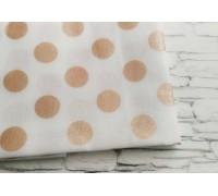 Ткань в горошек, розовое золото, 50х55 см