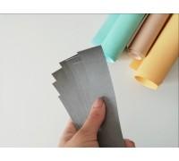 Отрез кожзама для хлястика, цвет серый, 1 шт