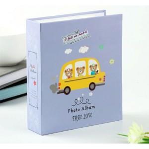 Фотоальбом c пластиковыми карманами 10Х15, 40 фото, +коробка, 1 шт