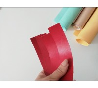 Отрез кожзама для хлястика, цвет красный, глянец, 1 шт