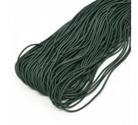 Резинка круглая , цвет тёмно-зелёный, 1м