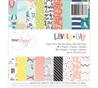 Набор бумаги Dear Lizzy Lovely Day  15х15 см