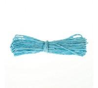 Бумажный крафт шнур голубой, 1 м