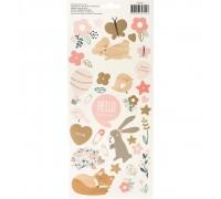 """Наклейки Night Night Baby Girl Cardstock Stickers 5.5""""X11"""" 2/Pkg"""