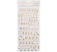 Наклейки буквы, розовый с золотым
