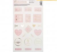 Наклейки для скрапбукинга «С любовью», 14 × 24 см, 250 г/м