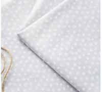 Ткань хлопок «Завитки на сером», 33х80 см