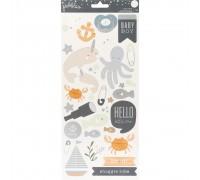"""Наклейки Night Night Baby Boy Cardstock Stickers 5.5""""X11"""" 2/Pkg"""