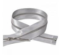 Молния металлическая №3  атласная, 18 см, серый
