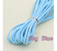 Замшевый шнур, голубой, 1м