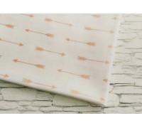 Ткань со стрелами, розовое золото, 50х55 см