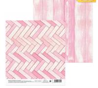 Бумага для скрапбукинга «Розовые досочки», 15,5 х 15,5 см